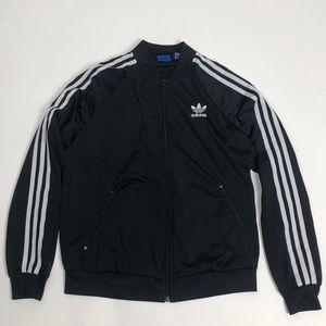 Classic Adidas Black Zip Up Jacket